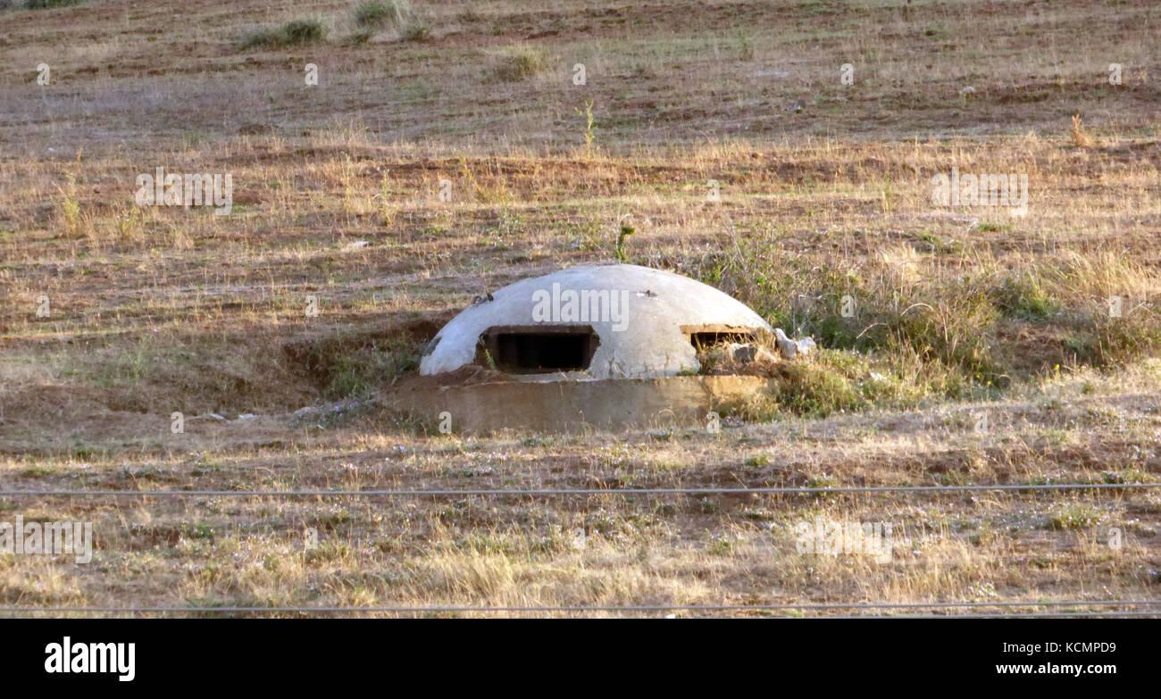 Albania, Bunkers - Stock Image