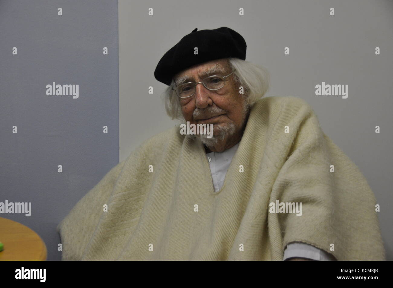 GERMANY - MARCH 5, 2015: Ernesto Cardenal, Nicaraguan Catholic priest, poet and politician, visit Magdeburg. - Stock Image