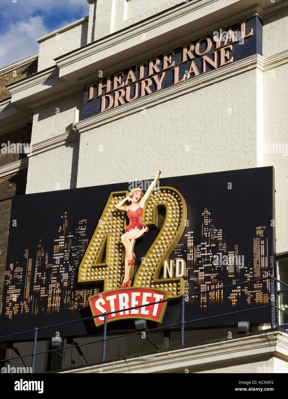 42nd Street, at the Theatre Royal, Dury Lane, London UK. - Stock Image