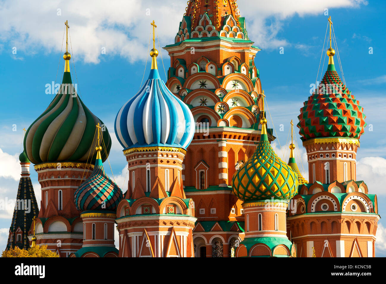 Saint Basil's Cathedral, Moscow, Russian Federation - Stock Image