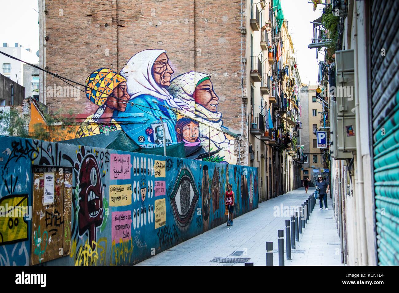 Street scene, Barcelona, Spain Stock Photo