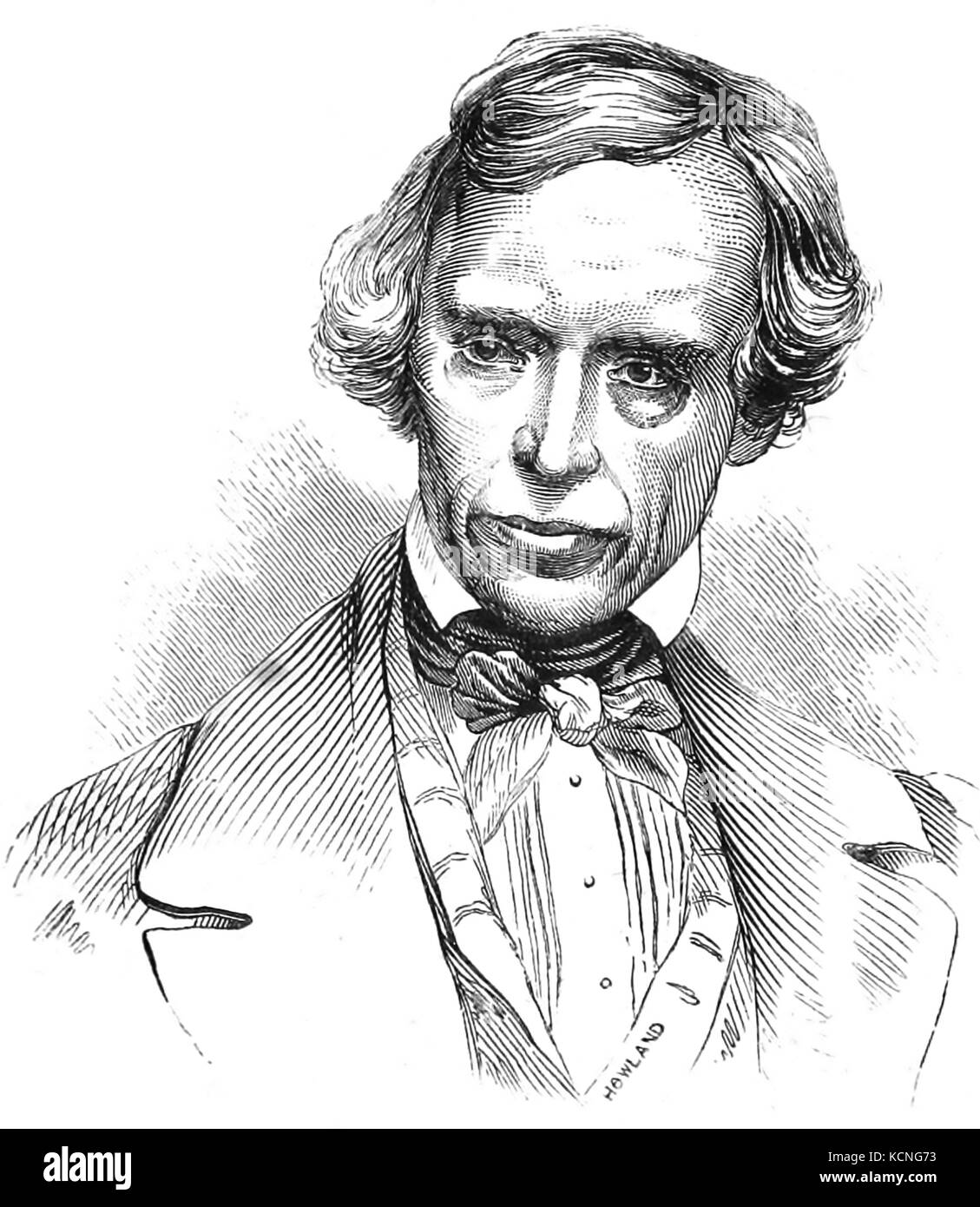 SAMUEL MORSE (1791-1872) American painter and later inventor who co-developed the Morse Code - Stock Image