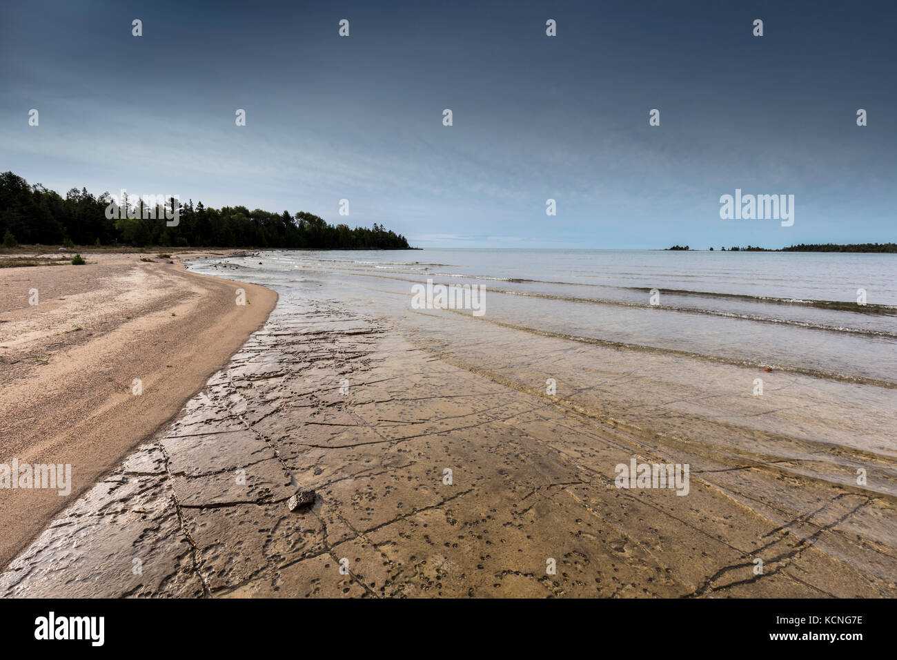 Shores of Misery Bay in Misery Bay Provincial Park, Manitoulin Island, Ontario, Canada Stock Photo