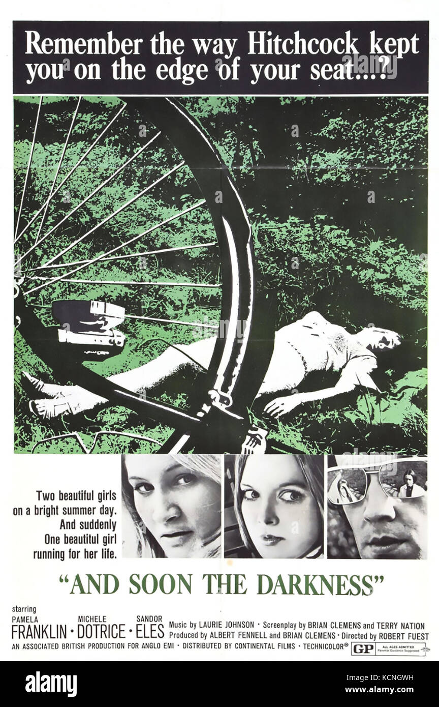 AND SOON THE DARKNESS 1970 Warner-Pathe film - Stock Image