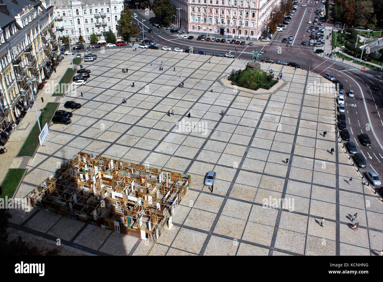 Views of Sophia square from bell tower Kiev, Ukraine - Stock Image