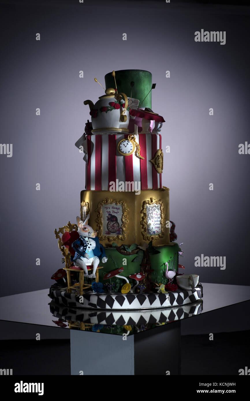 cake, wedding, sweet, celebration, occasion, calories, sugar, sweetness,lifestyle, business, confectionery, - Stock Image