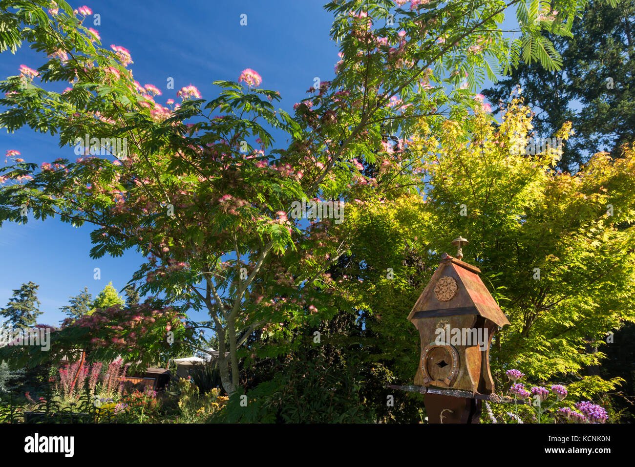 Located 12 kms north of downtown Victoria, the Horticultural Centre of the Pacific welcomes visitors to it's - Stock Image