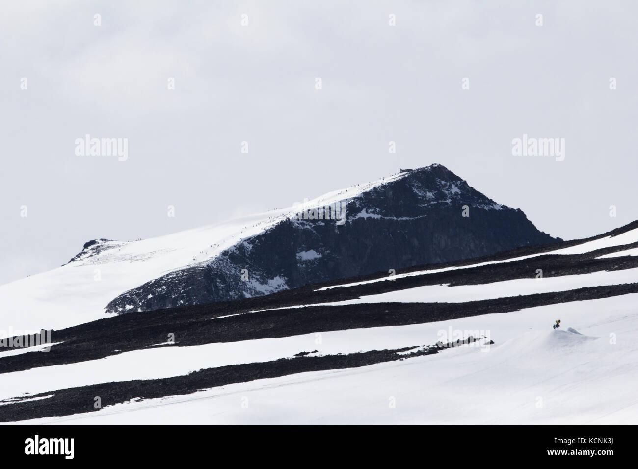 Galdhopiggen mountain in jotunheimen norway highest mountain in north europe - Stock Image