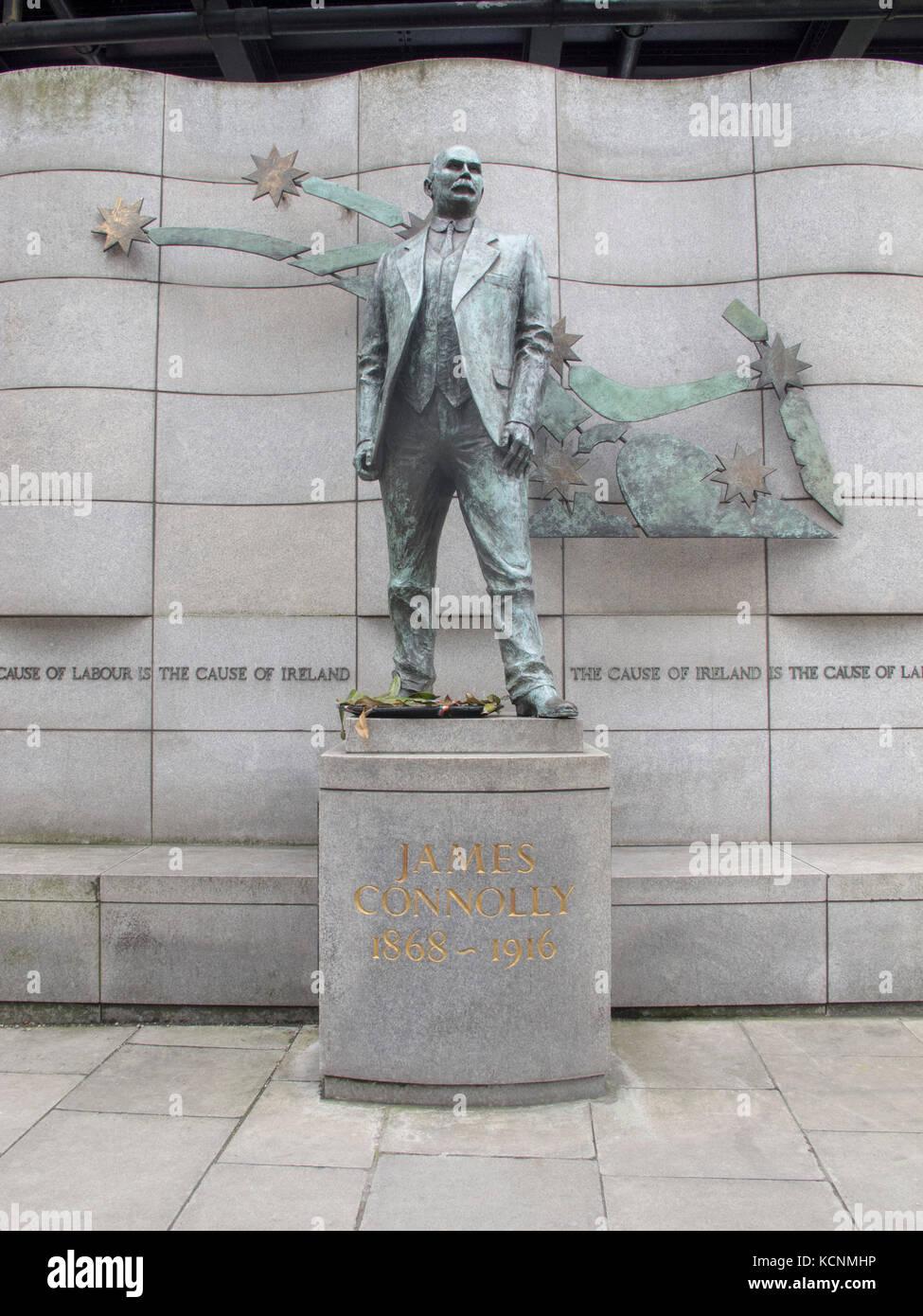 James Connolly statue in Dublin, Ireland Stock Photo