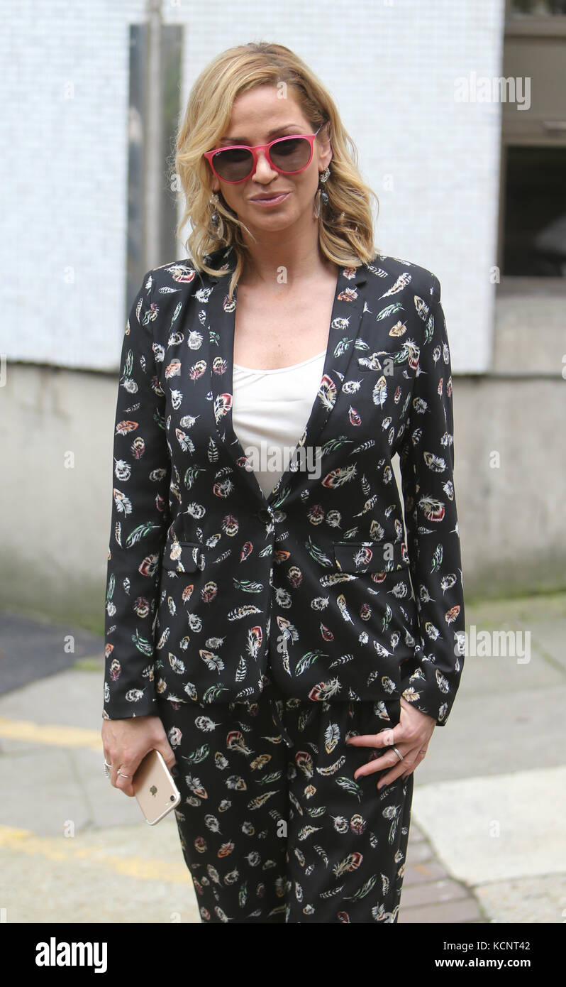Sarah Harding outside ITV Studios  Featuring: Sarah Harding Where: London, United Kingdom When: 05 Sep 2017 Credit: - Stock Image