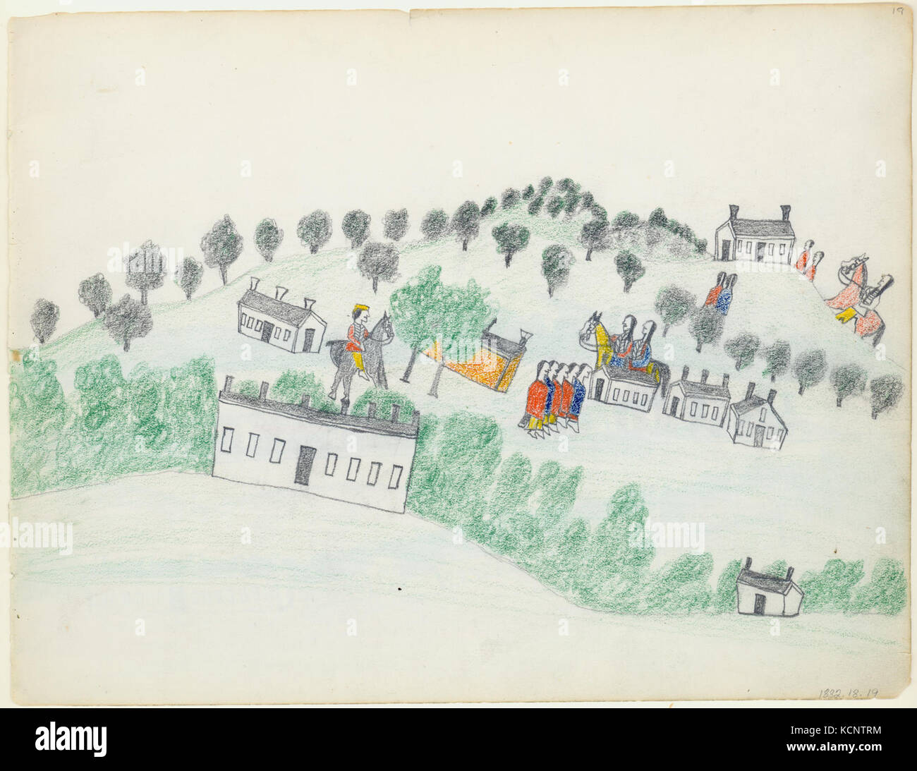 Drawing Of Fort Sill Oklahoma By Wo Haw Stock Photo 162749656 Alamy
