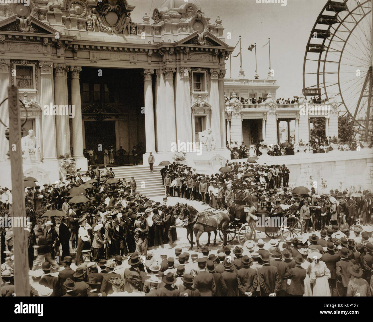 Dedication of the Illinois State Building at the 1904 World's Fair - Stock Image