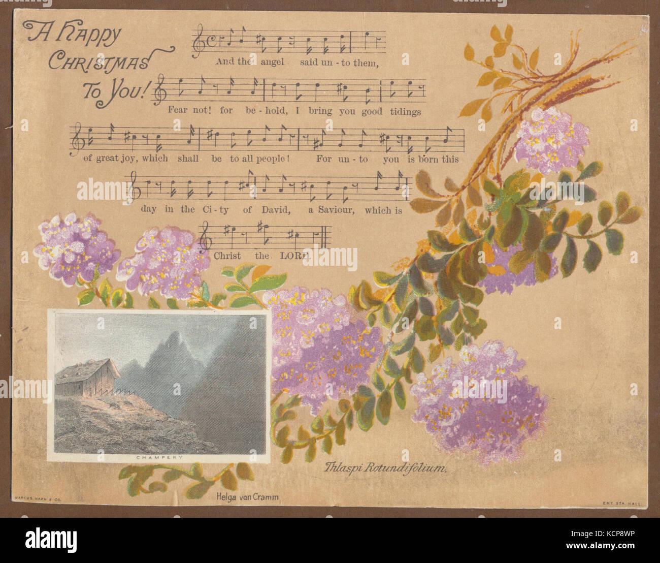 Helga von Cramm, Thlaspi Rotundifolium, published by Marcus Ward & Co., Champery. Chromolithographic Christmas - Stock Image
