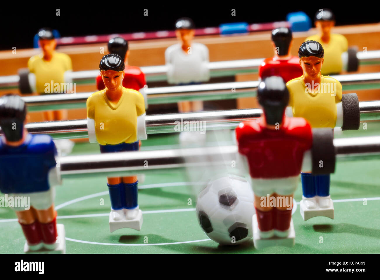 Play with the tabletop football - Stock Image