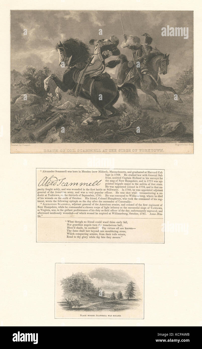 Death of Col. Scammell at the Siege of Yorktown (NYPL b12610608 421420) - Stock Image