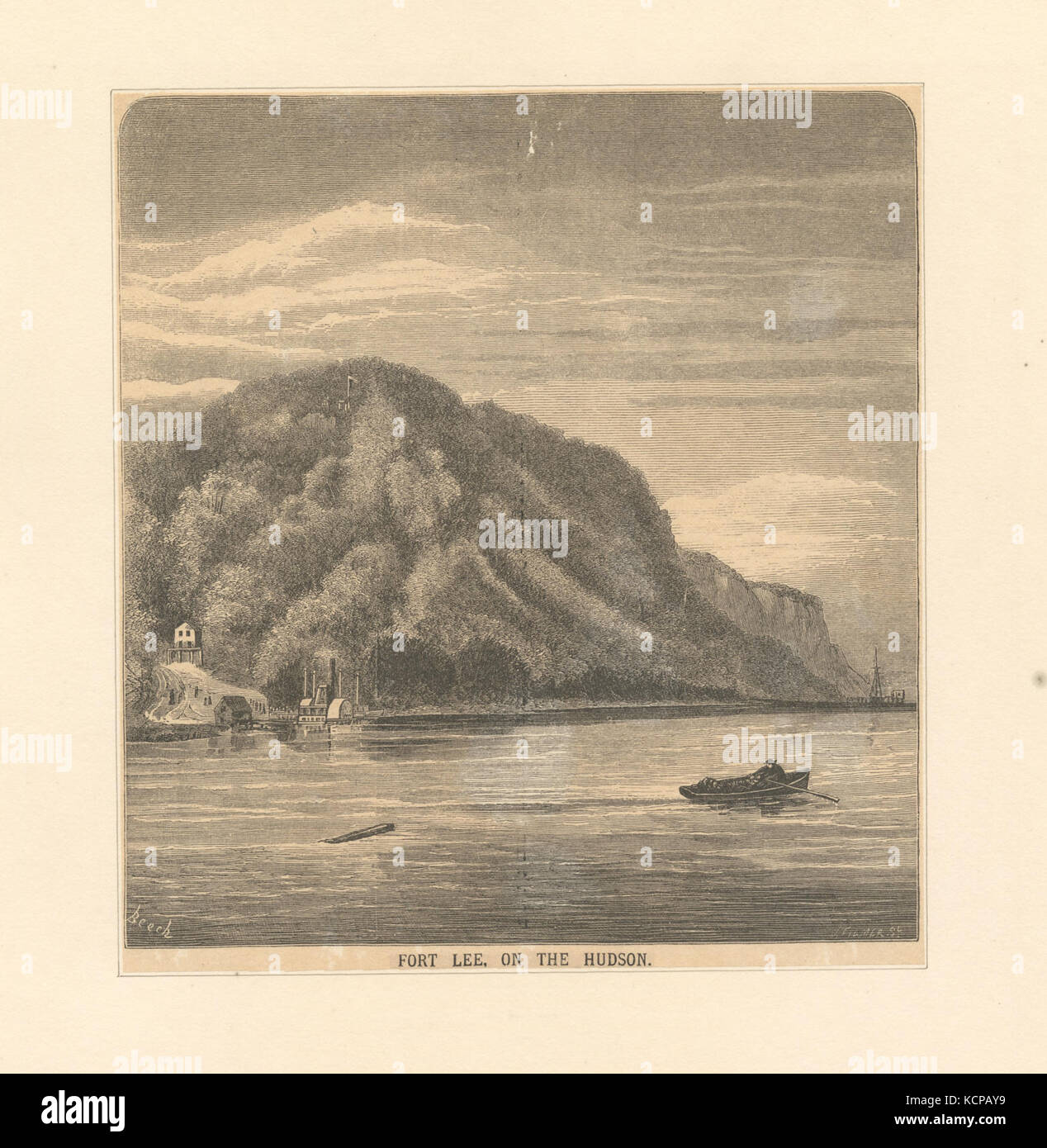 Fort Lee on the Hudson (NYPL b12610211 424942) - Stock Image