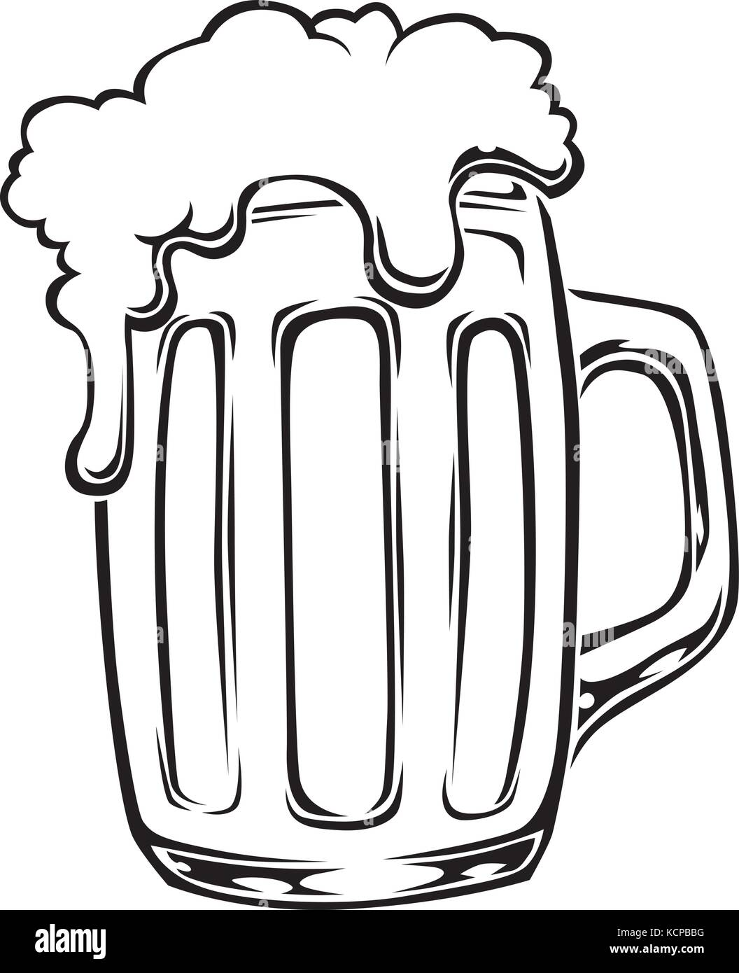 Vector illustration of a stylized beer mug stock vector for Immagini vector