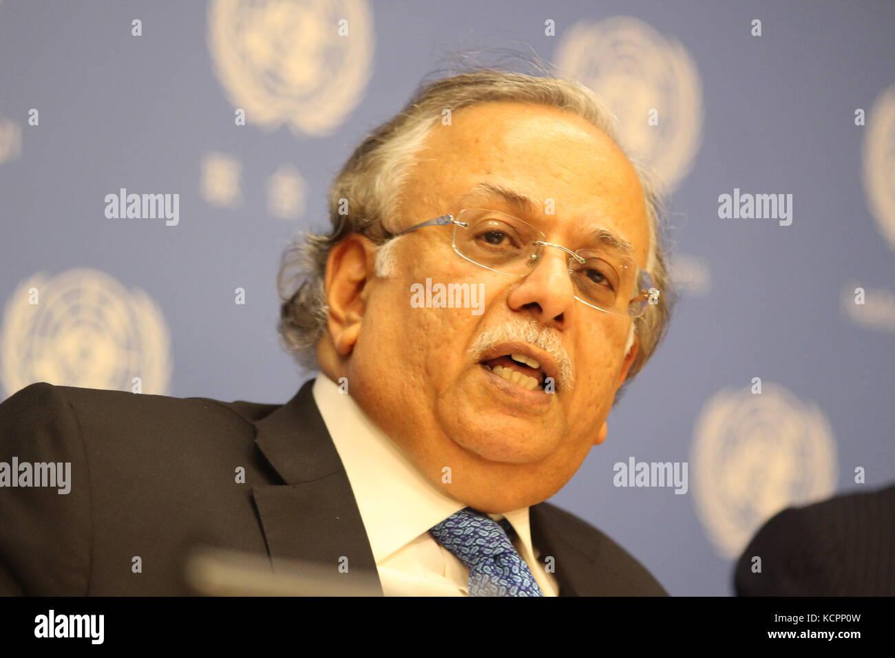 UN New York USA 6th Oct 2017 Saudi Arabia Ambassador Abdallah Y