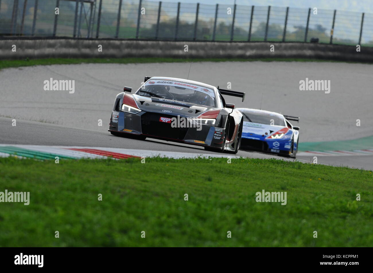 Mugello Circuit, Italy. 6th Oct, 2017. AUDI R8 LMS AUDI SPORT Italia Team driven by GHIRELLI Vittorio - TRELUYER Stock Photo