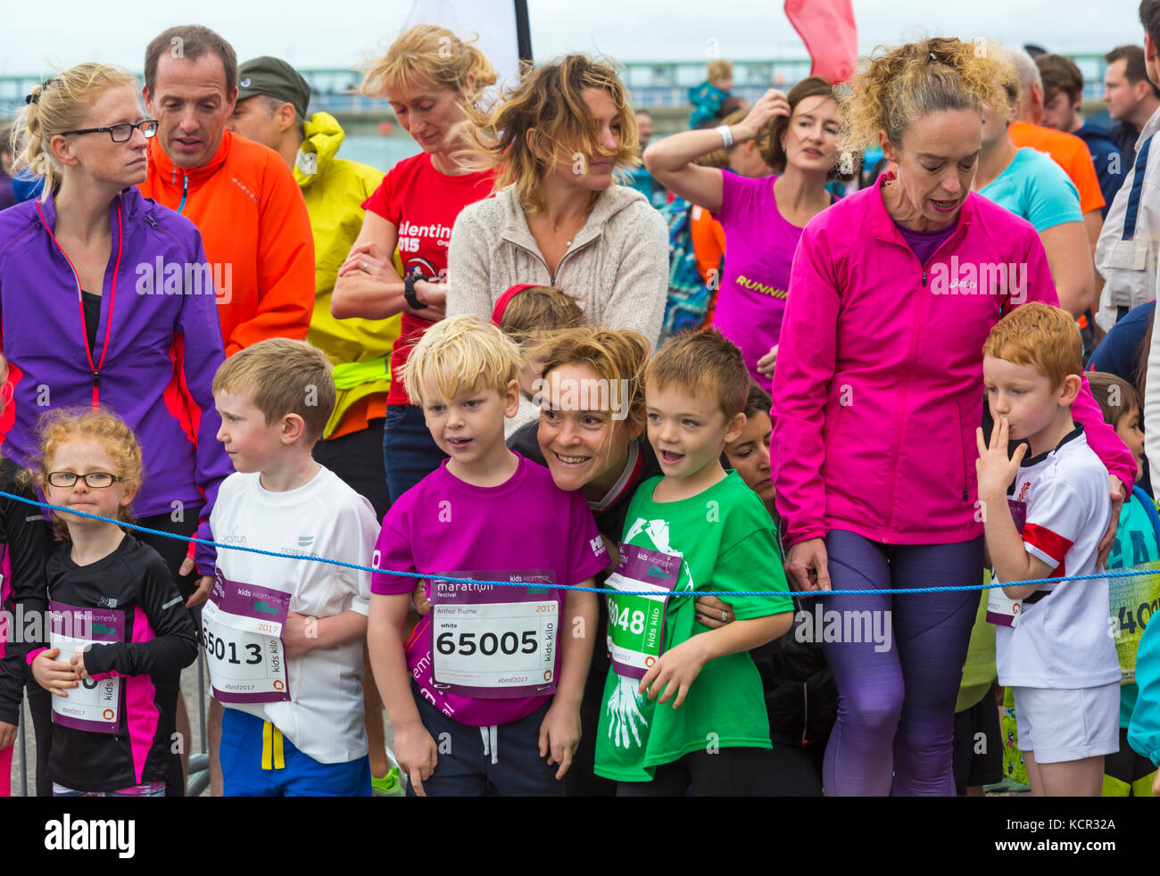 Bournemouth, Dorset, UK. 7th Oct, 2017. The first day of the Bournemouth Marathon Festival gets underway with the - Stock Image
