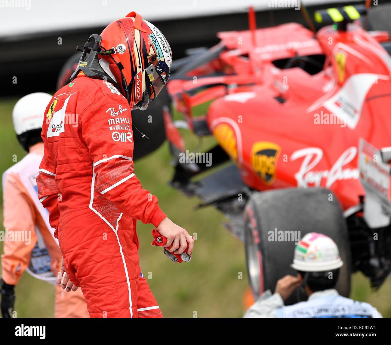 Suzuka, Japan. 7th Oct, 2017. 2017 FORMULA 1 JAPANESE GRAND PRIX , 06. - 08.10.2017 Accident/crash of Kimi Raikkonen Stock Photo