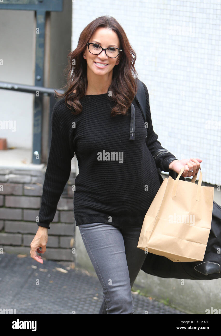 Andrea McLean outside ITV Studios  Featuring: Andrea McLean Where: London, United Kingdom When: 05 Sep 2017 Credit: - Stock Image
