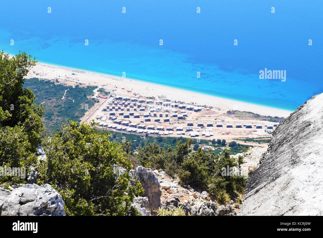Albanian riviera - Stock Image