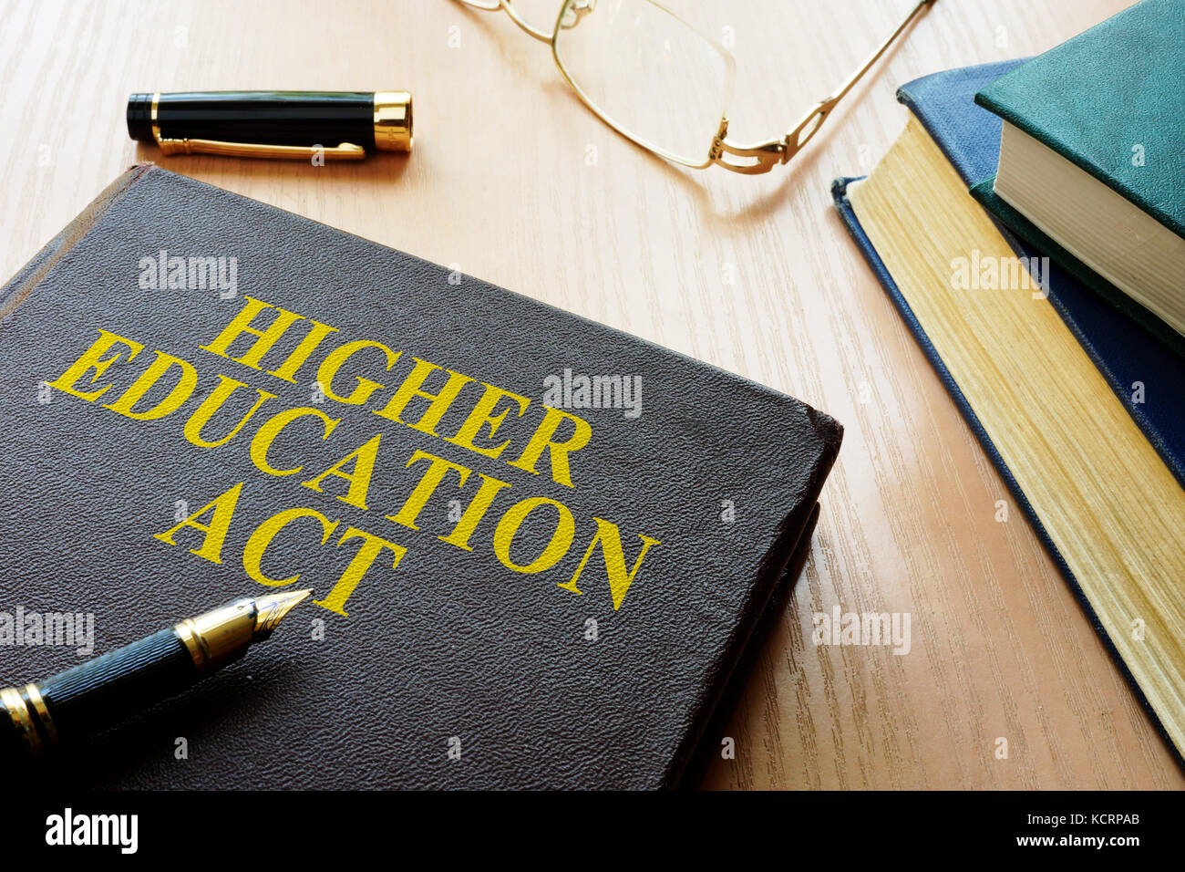 Higher Education Act HEA on a desk. - Stock Image