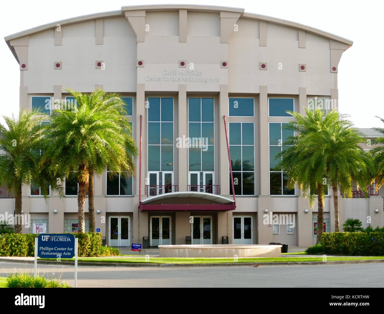 Curtis M. Phillips Center for the Performing Arts, University of Florida, Gainesville, Florida, USA. Speaking venue - Stock Image