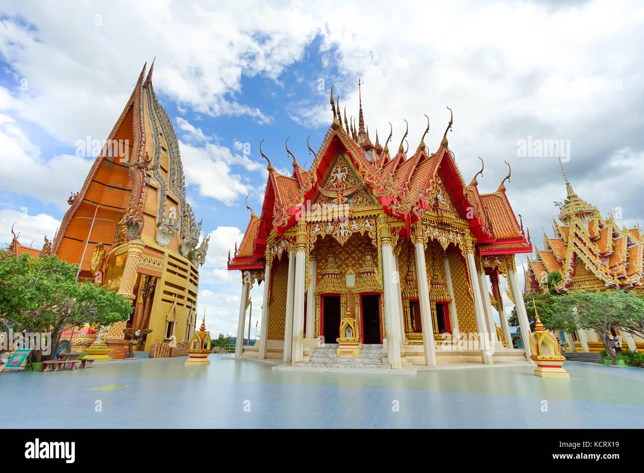 Wat Tham Sua is the most beautiful temple in Kanchanaburi, Thailand - Stock Image