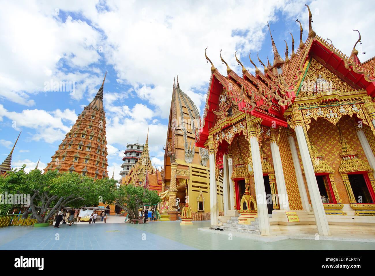 KANCHANABURI, THAILAND - July 7, 2017: Wat Tham Sua is the most beautiful temple in Kanchanaburi, Thailand. July - Stock Image