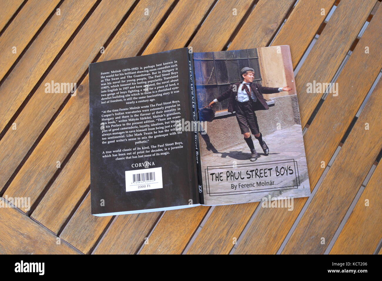 The Hungarian novel The Paul Street Boys, Pal utcai fiuk, by Ferenc Molnar - Stock Image