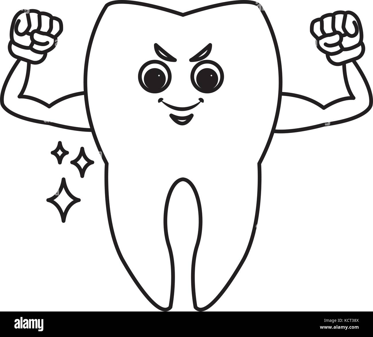 Cute Tooth Cartoon Stock Vector Image Art Alamy