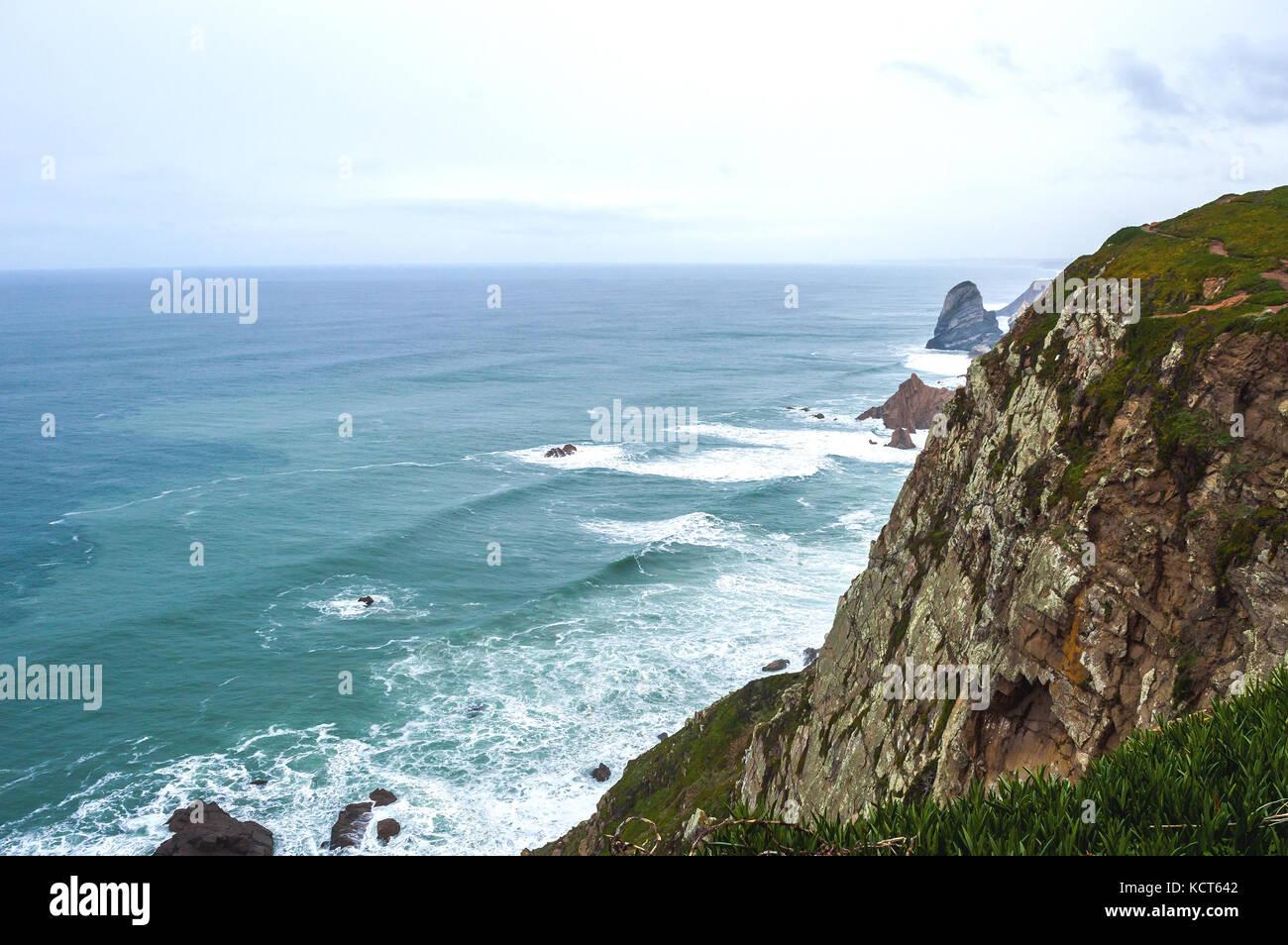 Cabo da Rocka Portugal. - Stock Image