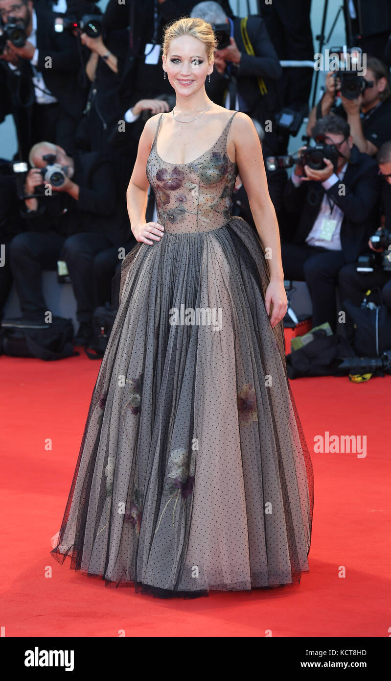 74th Venice Film Festival - Mother! - Premiere  Featuring: Jennifer Lawrence Where: Venice, Italy When: 05 Sep 2017 - Stock Image