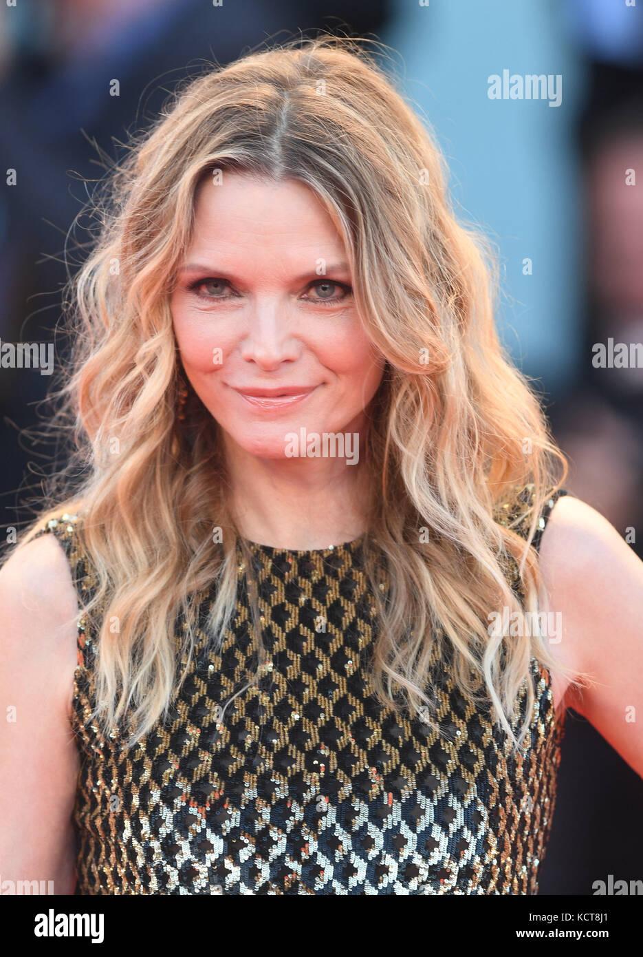 74th Venice Film Festival - Mother! - Premiere  Featuring: Michelle Pfeiffer Where: Venice, Italy When: 05 Sep 2017 - Stock Image