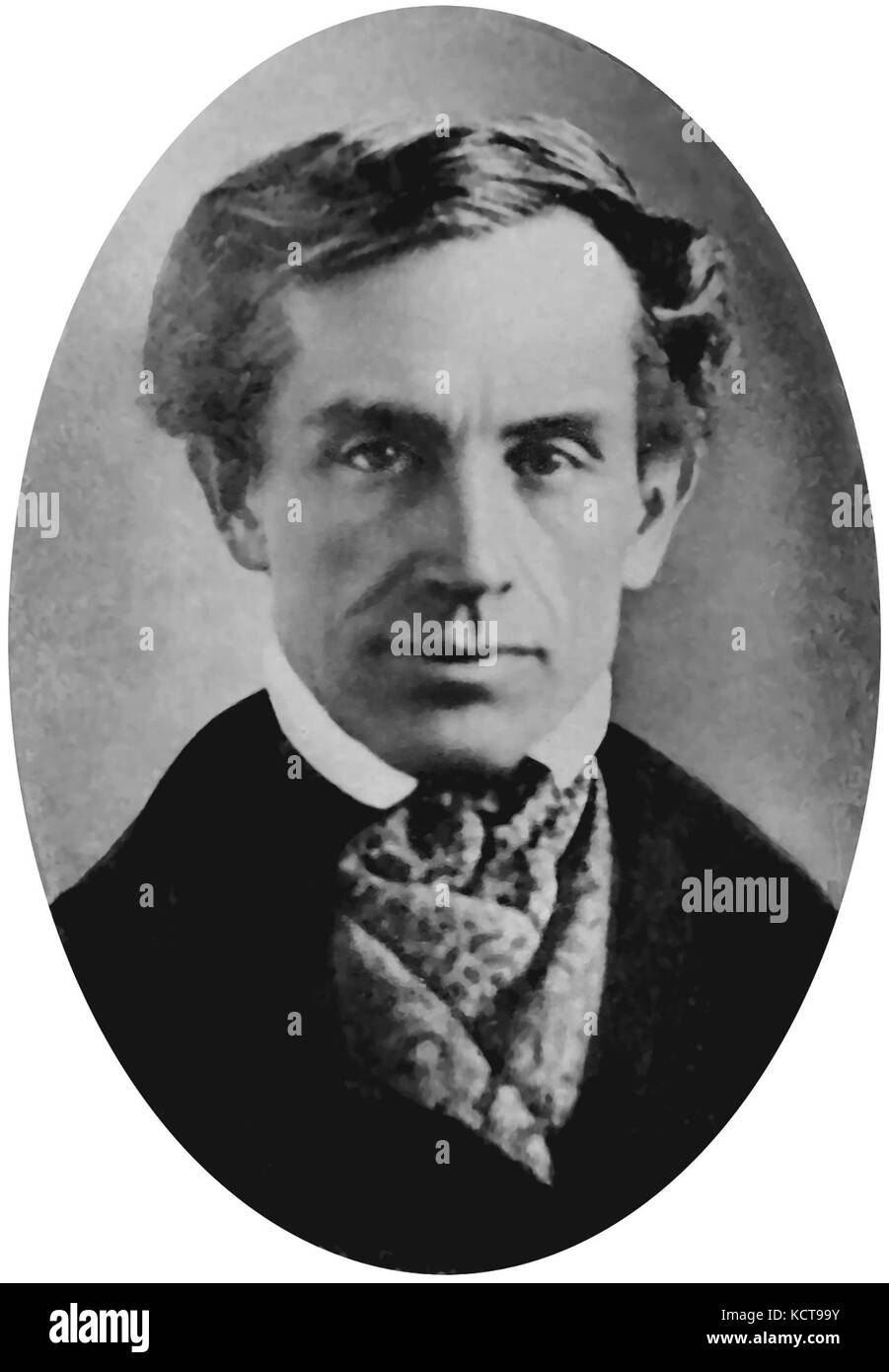 SAMUEL MORSE (1791-1872) American painter later was co-inventor of the Morse Code. Photo about 1840 - Stock Image