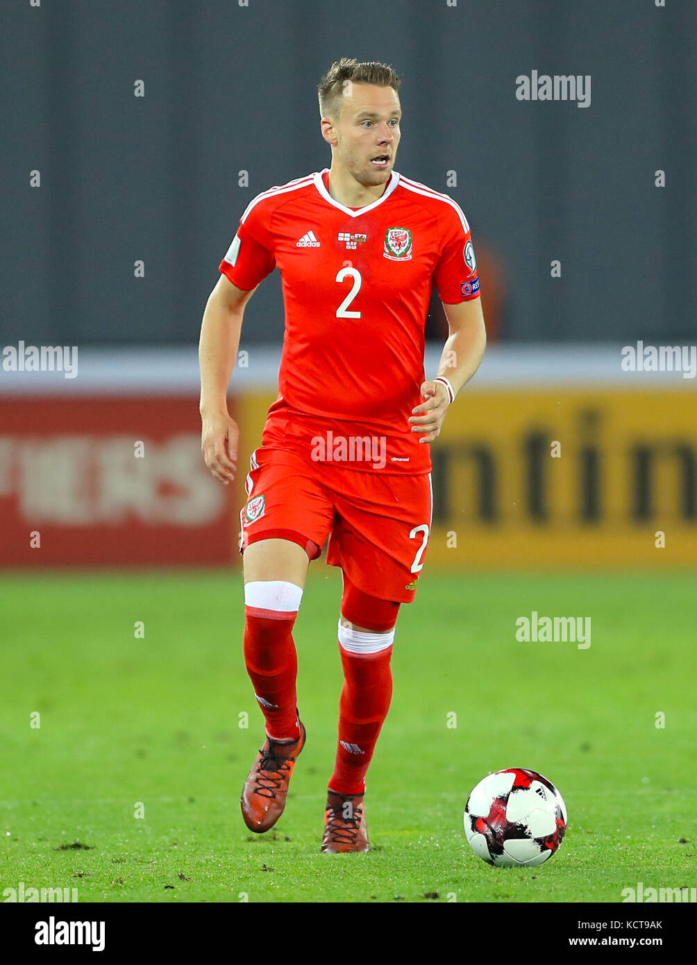 Wales Chris Ter During The 2018 Fifa World Cup Qualifying Group D Match At Boris Paichadze Dinamo Arena Tbilisi Press Association Photo