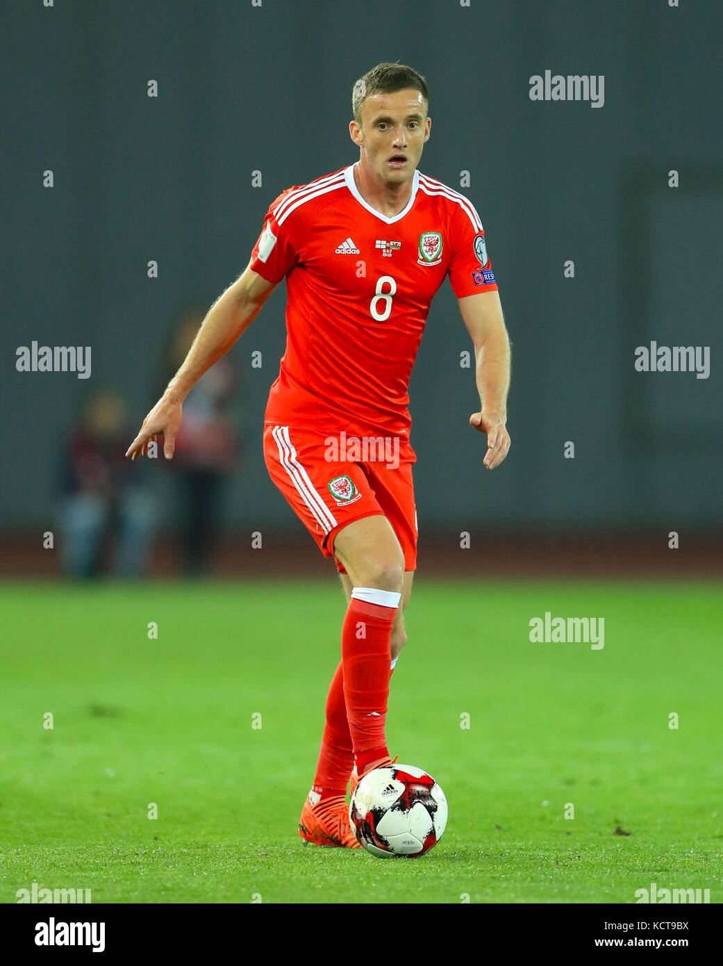 Wales Andy King During The 2018 Fifa World Cup Qualifying Group D Match At Boris Paichadze Dinamo Arena Tbilisi Press Association Photo
