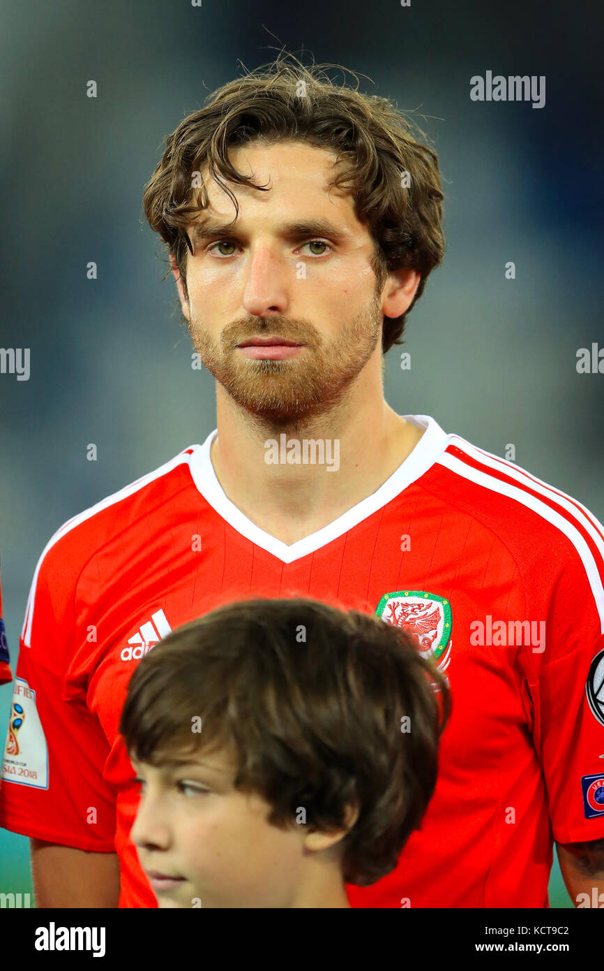 Wales Joe Allen During The 2018 Fifa World Cup Qualifying Group D Match At Boris Paichadze Dinamo Arena Tbilisi Press Association Photo
