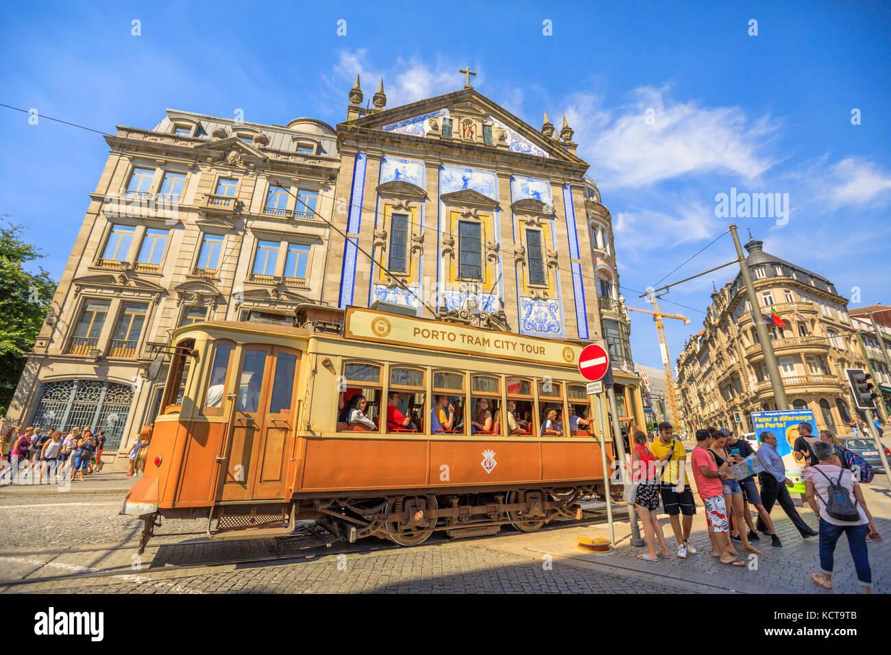 Porto Tram City Tour Stock Photo