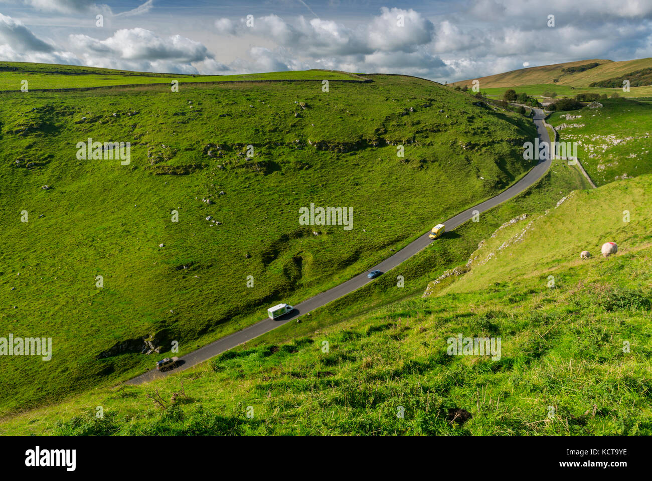 Winnats Pass Peak District National Park Stock Photo