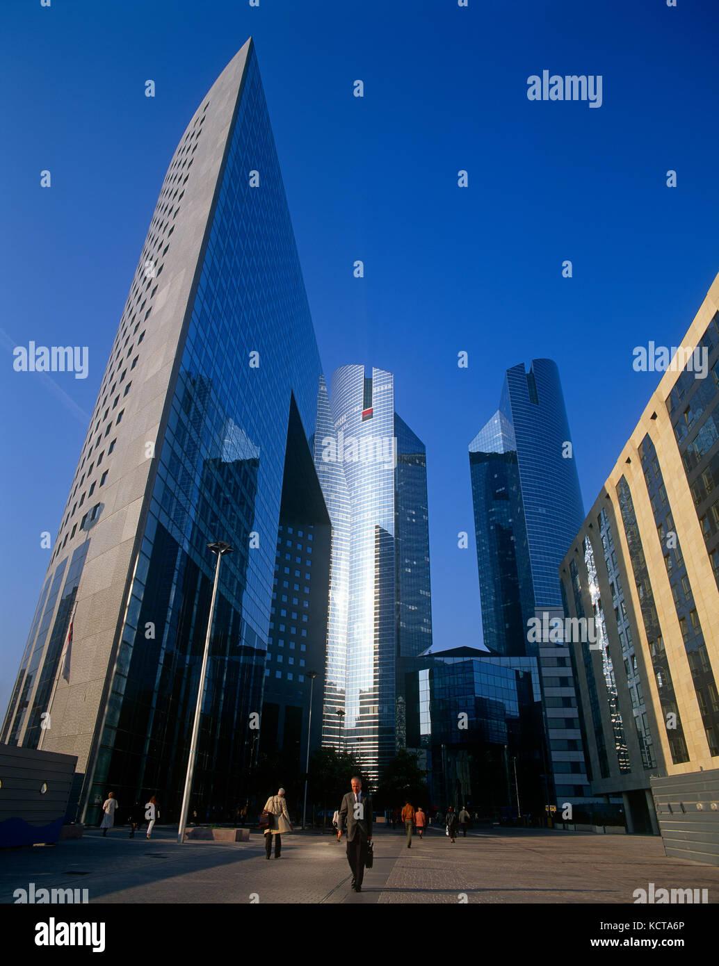 Financial District at La Defense, Paris, France - Stock Image