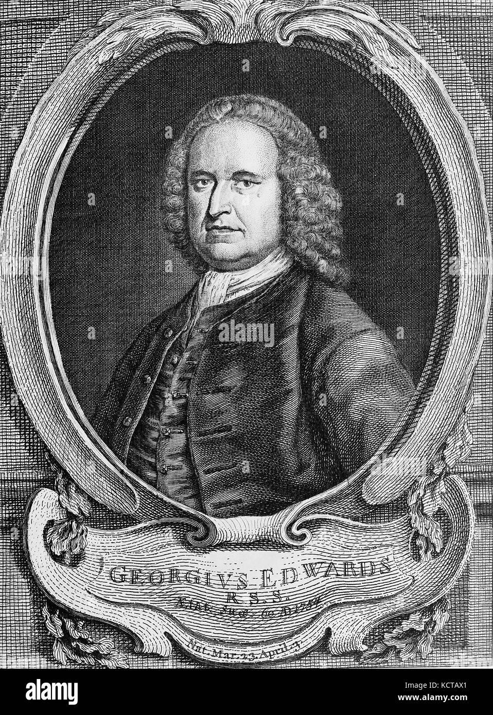 GEORGE EDWARDS (1694-1773) English ornithologist - Stock Image