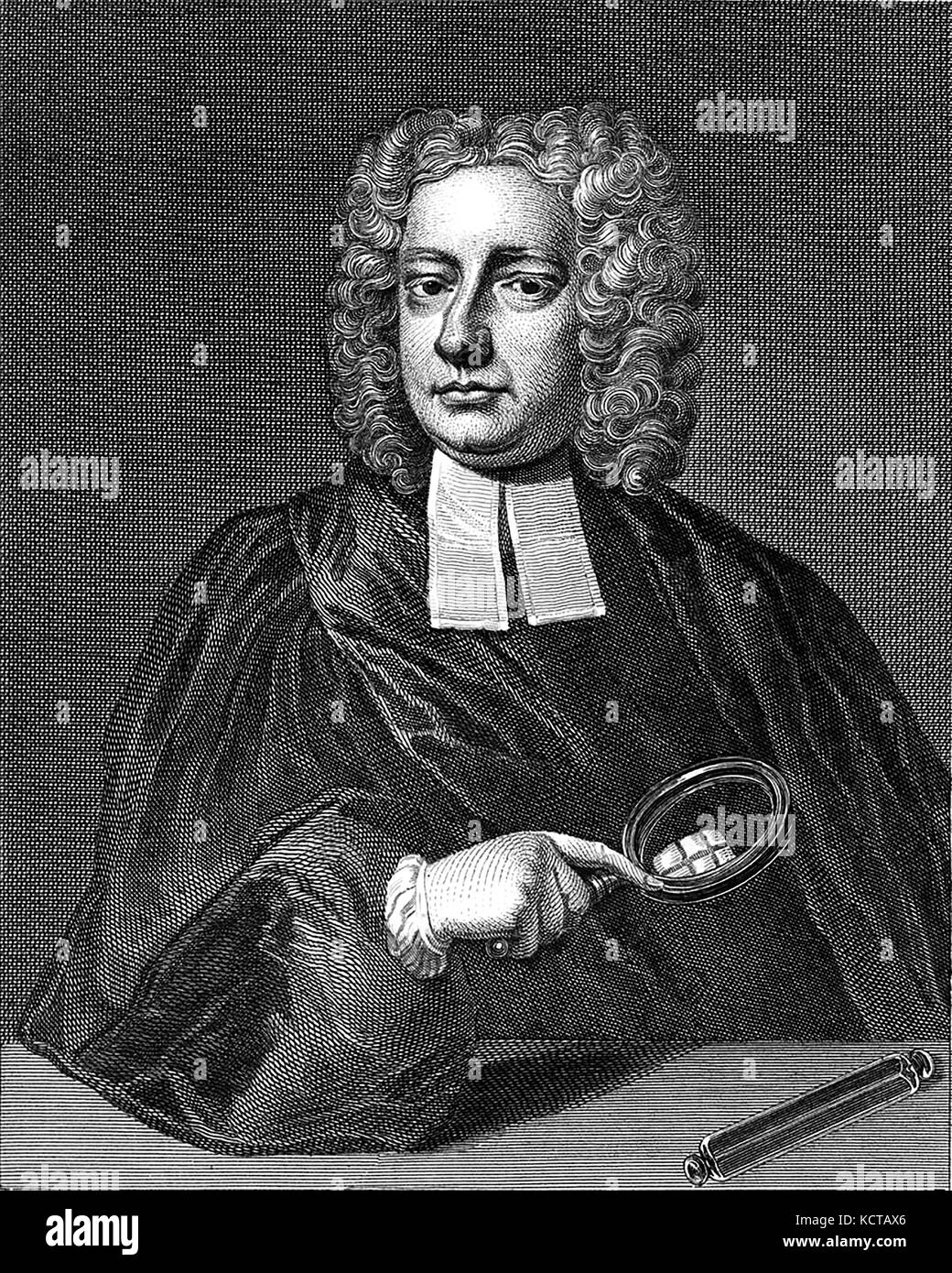 JOHN DESAGULIERS (1683-1744) British scientist who worked with Isaac Newton - Stock Image