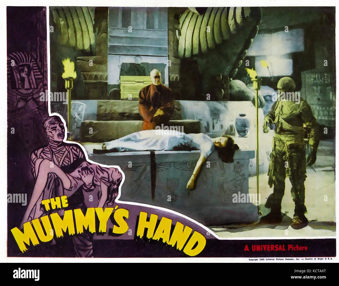 THE MUMMY'S HAND 1940 Universal Studios horror film with Peggy Moran - Stock Image