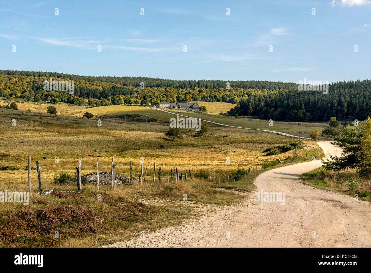 Le Sauvage gite on Via Podiensis. Camino de Santiago. Pilgrimage way. Haute Loire. Auvergne. France - Stock Image