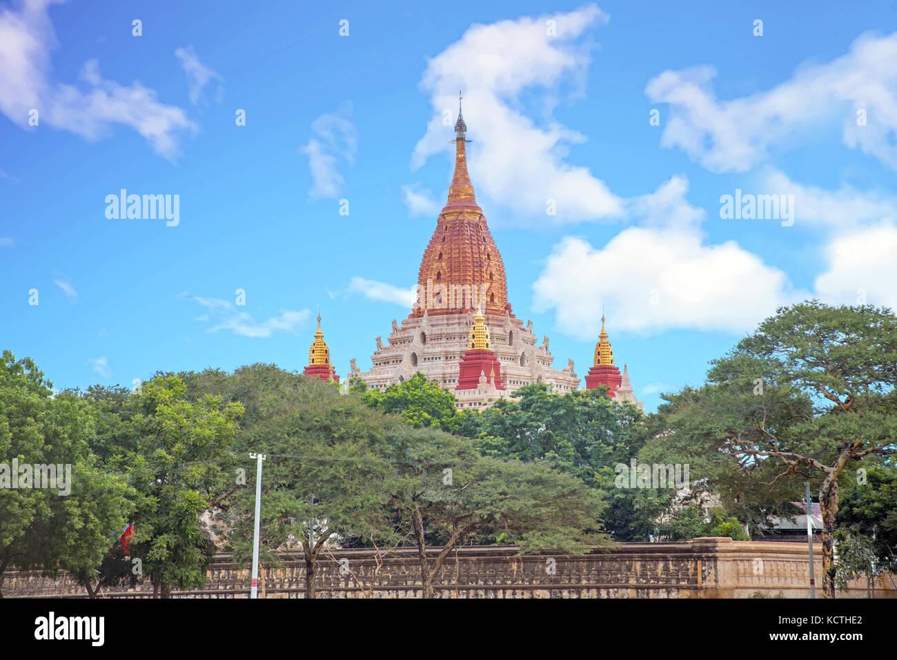Ananda temple in Bagan, Myanmar. - Stock Image