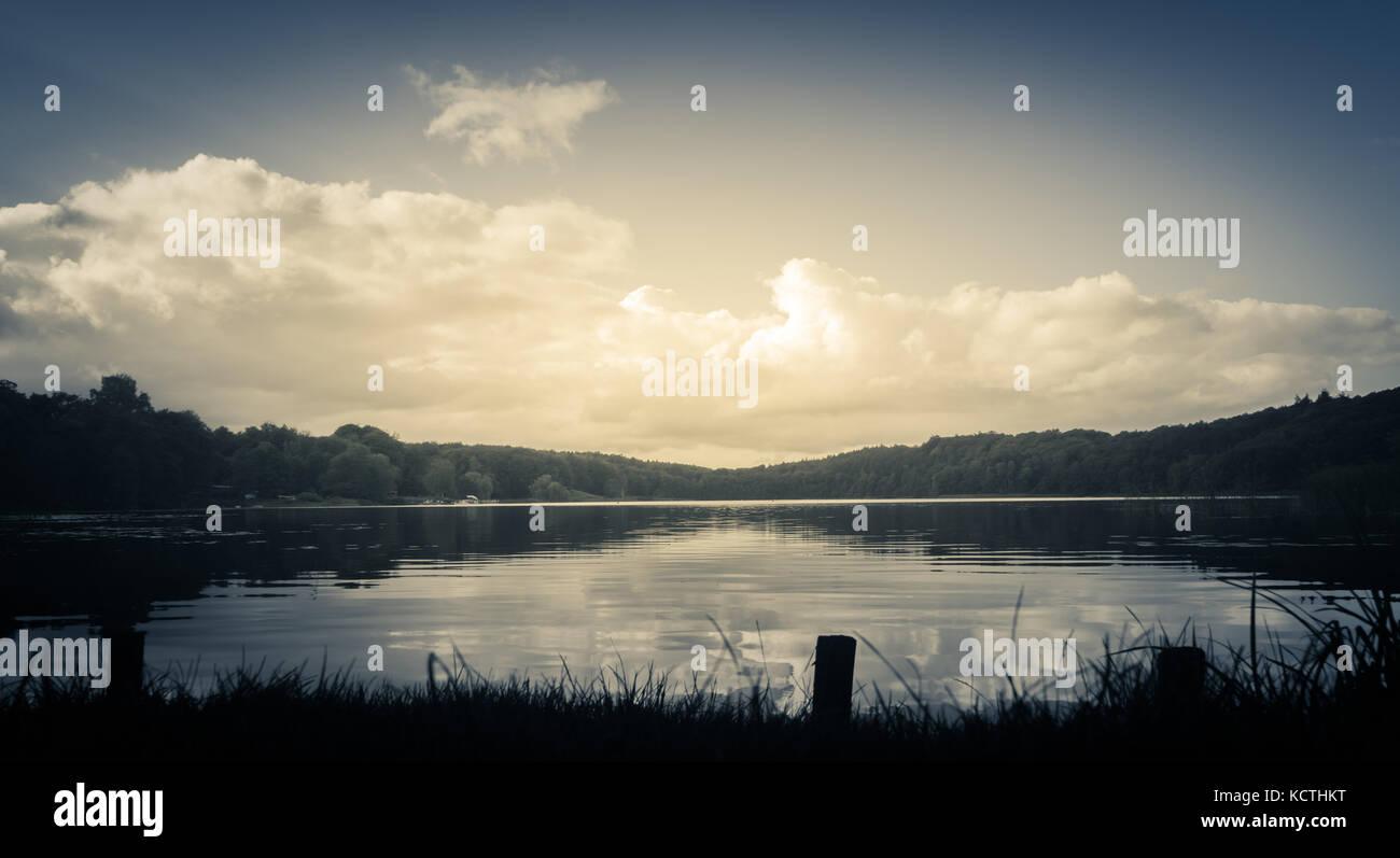Furesø Lake in North Zealand, Denmark - Stock Image