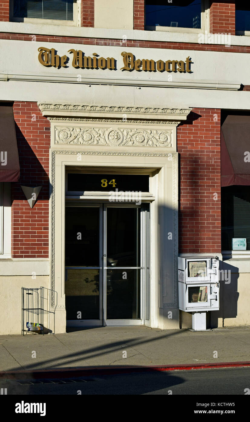 The Union Democrat Newspaper offices. Sonora, California - Stock Image
